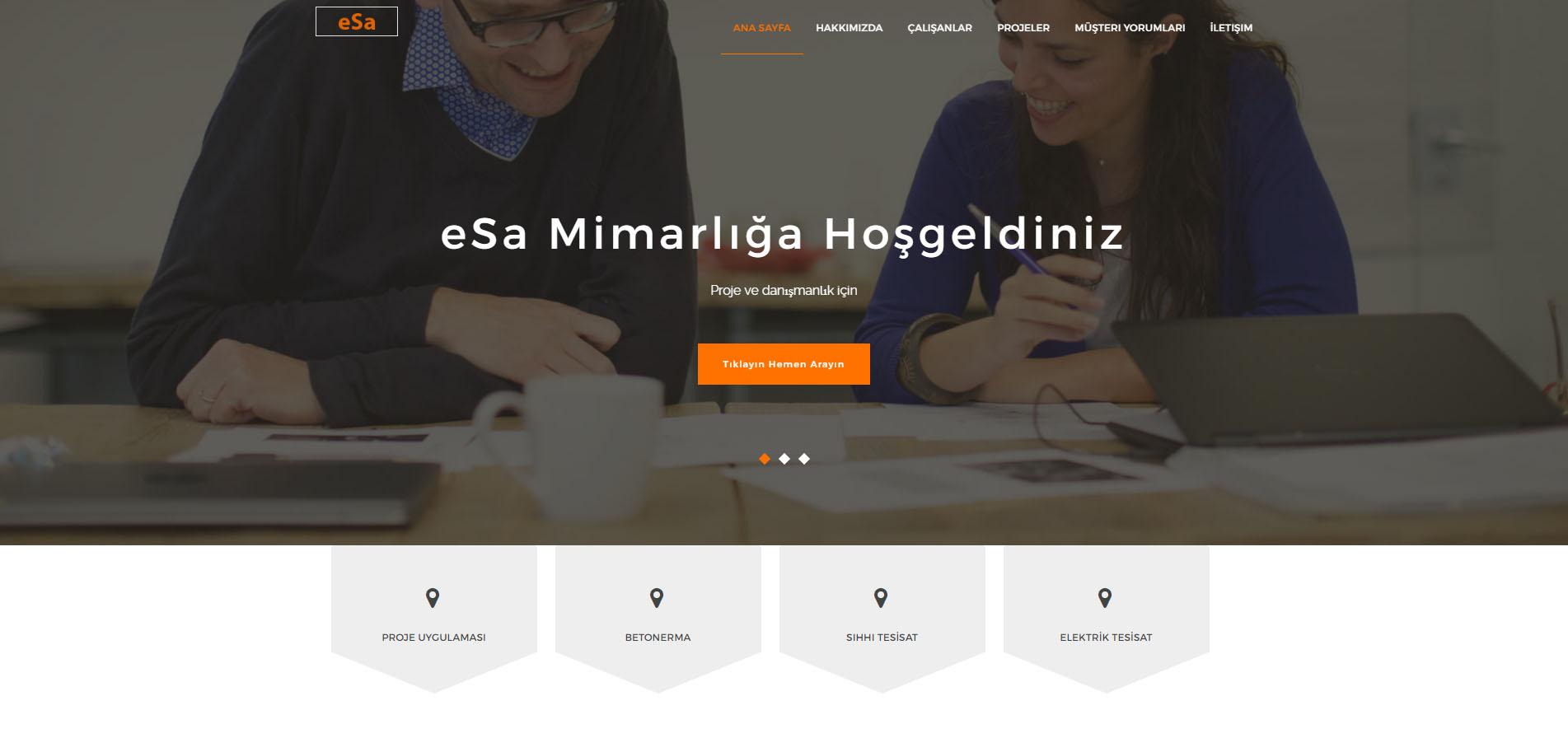 Hazır Mimar Web Sitesi Tasarımı