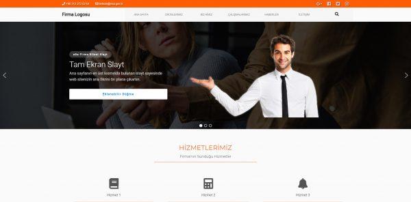 Hazır Firma Sitesi Ana Sayfa Üstü