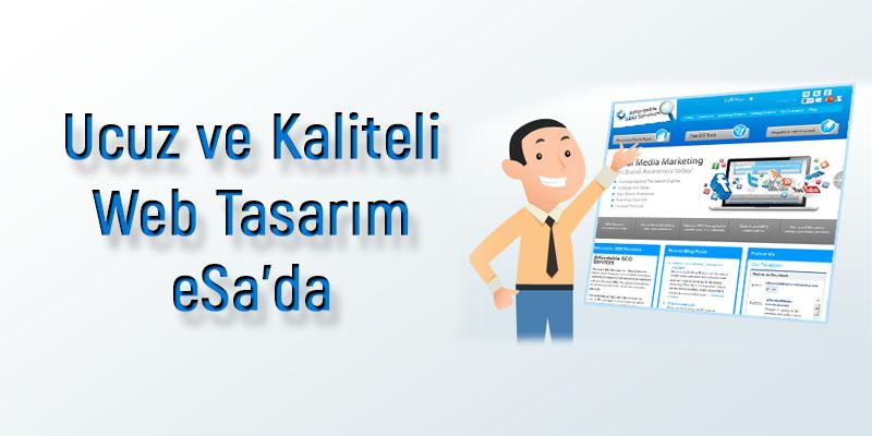 Ucuz Web Tasarım Ankara'da Sadece eSa web tasarımda