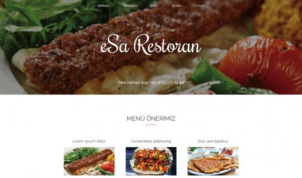 Hazır Restoran İnternet Sitesi