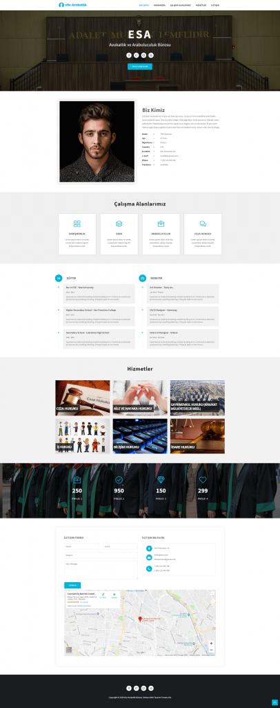 Hukuk Bürosu web tasarımı tam sayfa