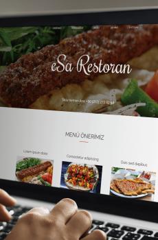 Restoran Web Sitesi Görünümü