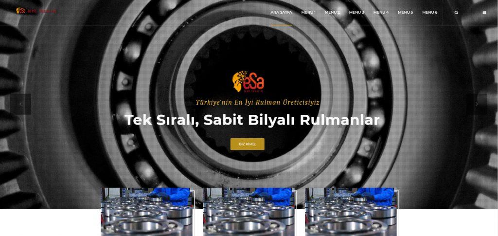 Rulman Web Tasarımı