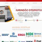 karagöz otomotiv web sitesi yapıldı