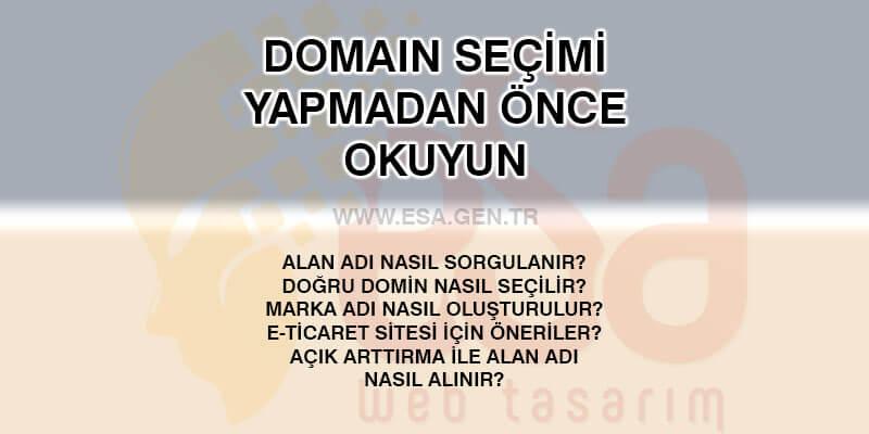 domain seçimi