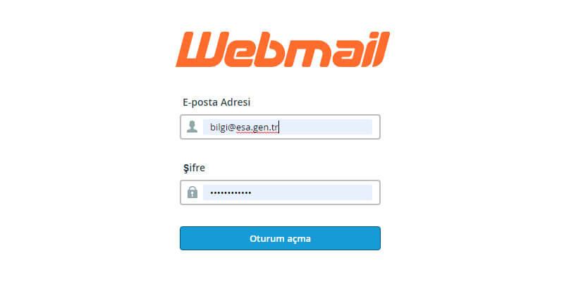 Kurumsal e-mail adresinize giriş yapma