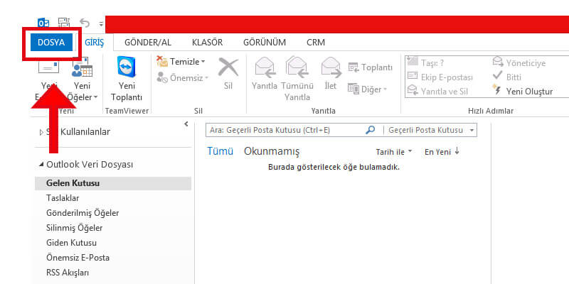 Outlook Şirket Maili Kurma İşlemi